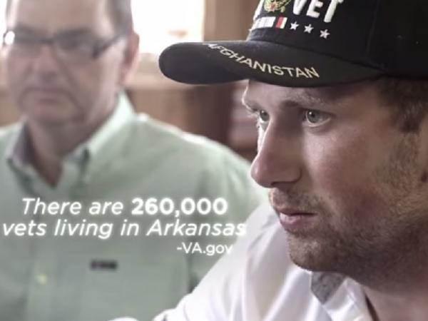 Campaign ad still from Arkansas congressional candidate Jackie McPherson.