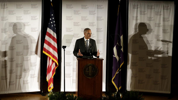 In the past year, the U.S. prison population fell by roughly 4,800, the first time in decades the number has gone down, according to the Justice Department. Attorney General Eric Holder discussed the findings in New York on Tuesday.