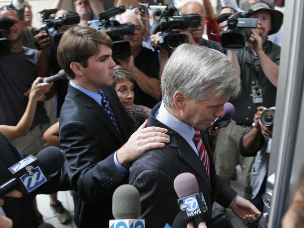 Former Virginia Gov. Bob McDonnell with his son Bobby in Richmond, Va.