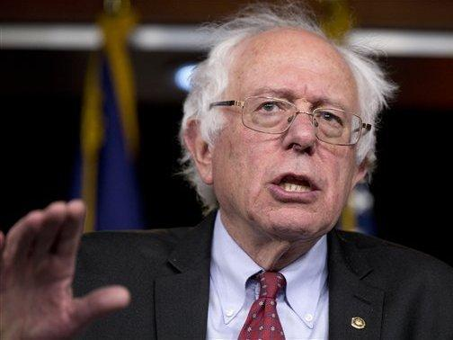 Vermont Sen. Bernie Sanders speaks during a news conference on Capitol Hill last month.