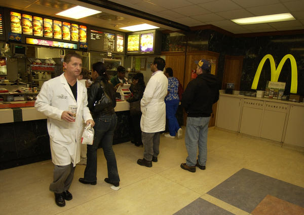 The McDonald's inside the Cleveland Clinic in Cleveland, in 2004.