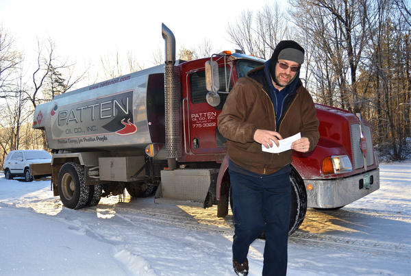 Rob Oberg delivers oil to a home in south central Vermont. He works for Keyser Energy in Proctor, Vt., which provides heating fuel to about 5,000 customers.