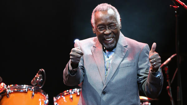 Clyde Stubblefield, seen here January 14 onstage at The Novo in Los Angeles, has died at the age of 73.