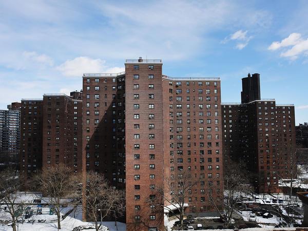 Public housing in lower Manhattan in New York City.