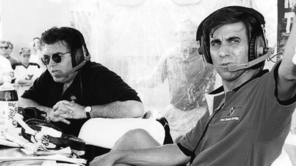 Mike Francesa and Chris Russo of <em>Mike And The Mad Dog</em>, ESPN's new sports documentary about the rise of sports talk radio.
