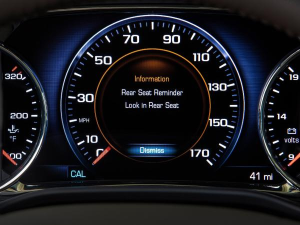 <strong></strong>Rear Seat Reminder, designed to remind drivers to check the back seat as they exit their vehicles, will be offered in many Buick, Cadillac, Chevrolet and GMC vehicles by the 2018 model year.