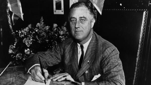 The man known universally as FDR, pictured here in 1936, is the subject of historian Robert Dallek's <em>Franklin D. Roosevelt: A Political Life</em>.