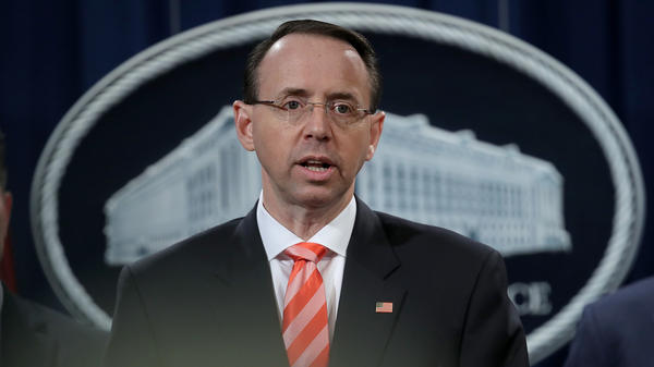 Deputy Attorney General Rod Rosenstein had been the public face of the investigation into Russian attacks on the 2016 election.