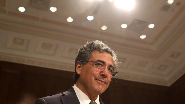 Noel Francisco attends his Senate Judiciary Committee confirmation hearing for his nomination to become solicitor general, on May 10, 2017, in Washington, D.C.