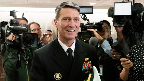 Rear Adm. Ronny Jackson, on Capitol Hill before he withdrew from consideration to be Veterans Affairs secretary.