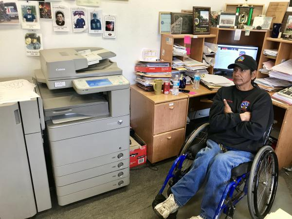 Steve Bullshoe was a hotshot until a car accident left him paralyzed. Now he's the office administrator for the Chief Mountain Hotshots.
