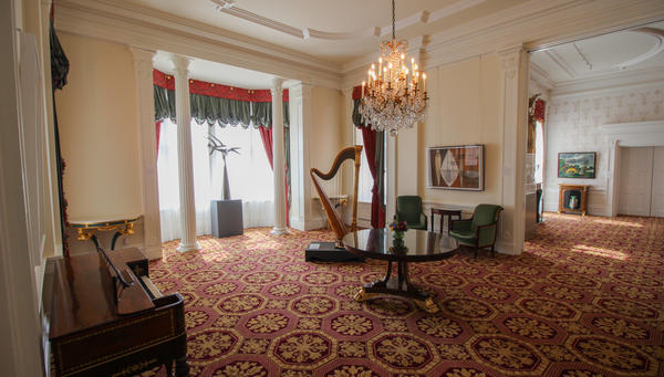 There's ample space for entertaining in the Governor's Mansion.