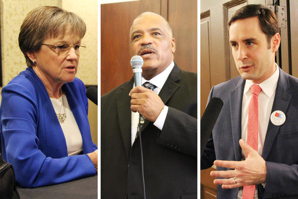 State Sen. Laura Kelly, former Wichita Mayor Carl Brewer, and former Kansas Ag Secretary Josh Svaty are all competing to be the Democratic gubernatorial candidate.