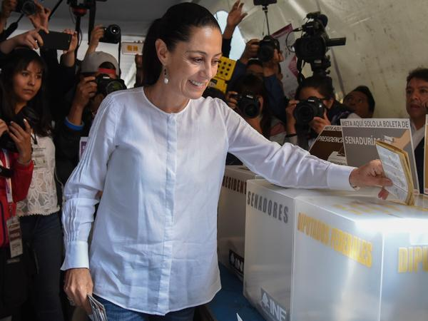 Mexico City Mayor-elect Claudia Sheinbaum cast her vote in the capital city on July 1. She and many women won posts in local governments and legislatures across the country.