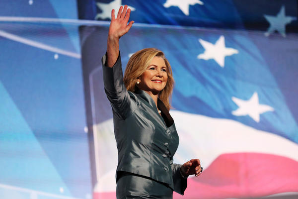 Rep. Marsha Blackburn gave a speech during the Republican National Convention in 2016. Blackburn is running against former Democratic Gov. Phil Bredesen in one of the year's most critical and competitive Senate races.
