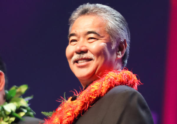 Hawaii Gov. David Ige, pictured in 2016, faced a strong challenge to his re-election but won his party's nomination Saturday.