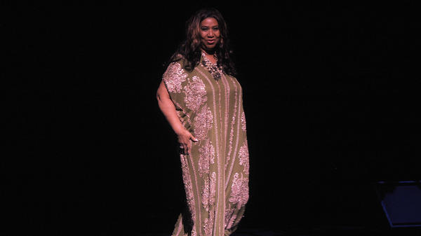 Aretha Franklin, onstage at The Metropolitan Opera House on September 18, 2011.