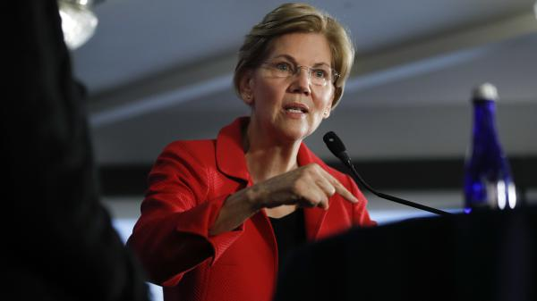 """Sen. Elizabeth Warren is cautious on the impeachment question, urging lawmakers to wait for special counsel Robert Mueller's report. """"And when we've got that, then we can make a decision on what the appropriate next step is."""""""