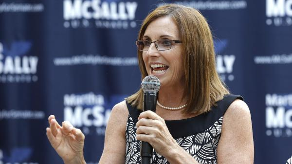 Rep. Martha McSally, R-Ariz., had to shift on immigration and has cozied up to Trump, after she denounced him in 2016.