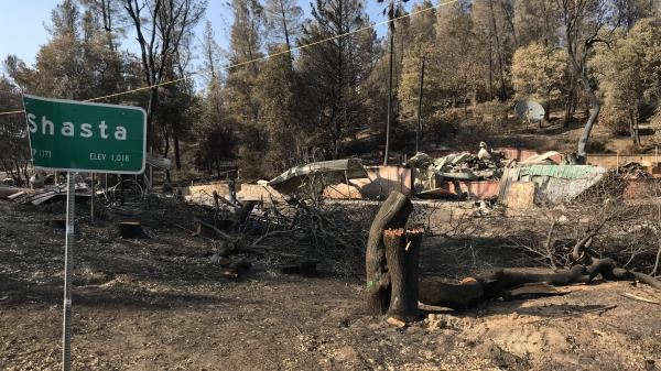 This summer's Carr Fire destroyed more than a thousand homes, largely on the western edge of Redding, Calif.