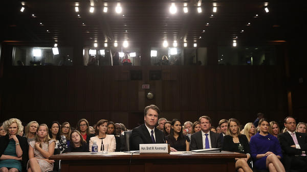 Supreme Court nominee Judge Brett Kavanaugh appears before the Senate Judiciary Committee during his Supreme Court confirmation hearing Tuesday.