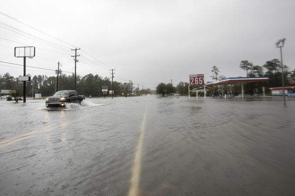 """Persistent rain worsens the flood conditions in Castle Hayne. Rains have been relentless, and Florence continues to dump a """"catastrophic"""" amount of water in its path."""