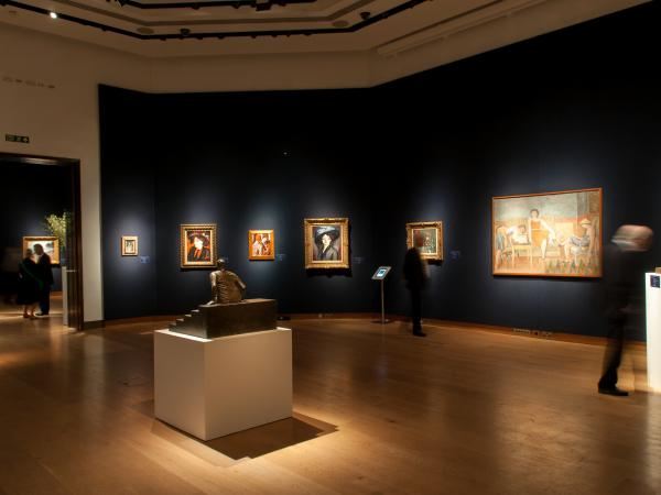 Christie's exhibition space in King Street, London, United Kingdom. Exhibition of impressionists artworks in June 2014.