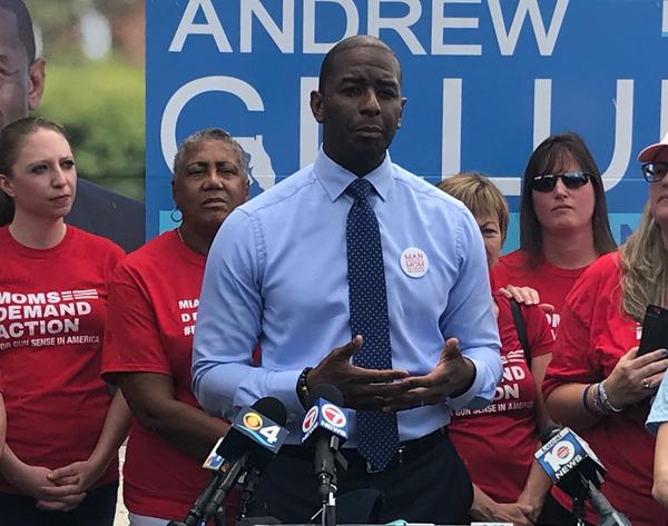 Florida Democratic gubernatorial nominee Andrew Gillum received an endorsement on Friday from the gun control group Moms Demand Action for Gun Sense in America.