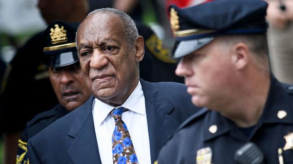 Bill Cosby arrives at a Norristown, Pa., court Monday. The first jury in the case deadlocked in 2017. A jury in the second trial convicted Cosby on all counts April 26, 2018.