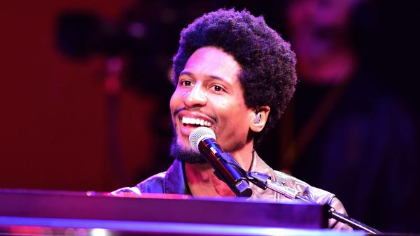 Jon Batiste performs with The Dap-Kings at the Monterey Jazz Festival in Monterey, Calif. on Sept. 22, 2018.
