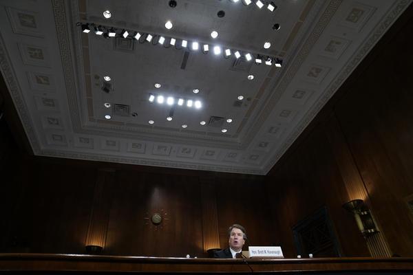 Kavanaugh testifies before the committee.