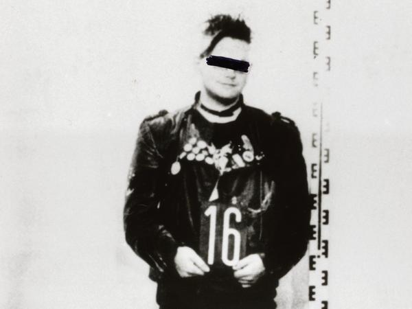 A young punk's Stasi arrest photo.