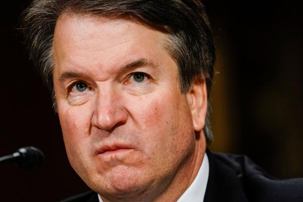 Judge Brett Kavanaugh scowls as he testifies before the Senate Judiciary Committee on Capitol Hill Thursday. Afterward, many observers felt he had revealed a partisan side never before seen from a Supreme Court nominee.