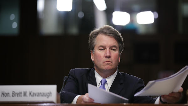 Brett Kavanaugh, seen here during his confirmation hearing early last month, has served on the D.C. Circuit Court of Appeals for 12 years. His tenure there offers some clues to how he'll handle the most controversial questions before the Supreme Court.