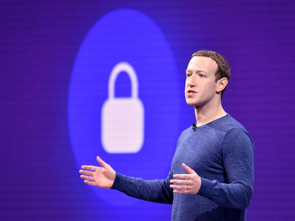 Facebook CEO Mark Zuckerberg speaks during the annual F8 conference in San Jose, Calif., on May 1. California passed legislation that would allow users to sue for damages for data breaches like the one Facebook recently suffered.