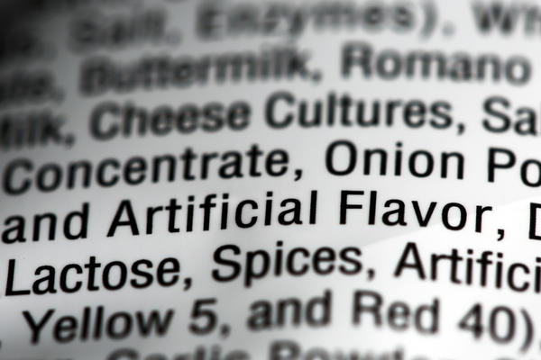 "Food additives can help mimic natural flavors and are often simply labeled as ""artificial flavors"" on labels."