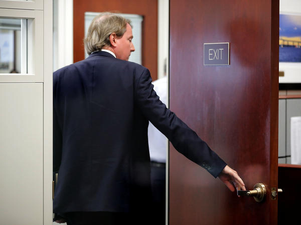 White House Counsel Don McGahn, who departed his post last week, heads into an August meeting with then-Supreme Court nominee Brett Kavanaugh and Sen. Sheldon Whitehouse, D-R.I. Confirming the newest Supreme Court justice was a capstone on his tenure.