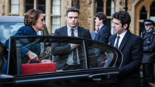 Keeley Hawes, Richard Madden and Paul Ready star in the BBC thriller <em>Bodyguard, </em>which comes to Netflix on October 24.