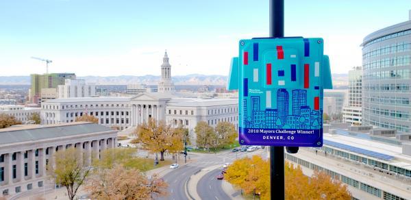 An air quality sensor over the city of Denver