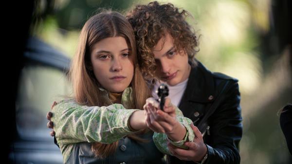 Marisol (Malena Villa) and Carlos (Lorenzo Ferro) get triggered in <em>El Angel</em>.