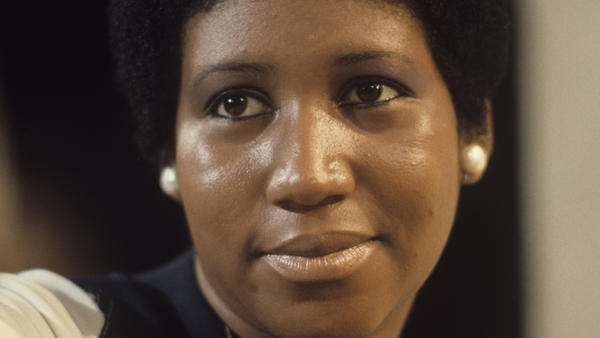 Aretha Franklin, pictured during a television appearance in January 1972, the same month in which the project <em>Amazing Grace</em> was recorded.