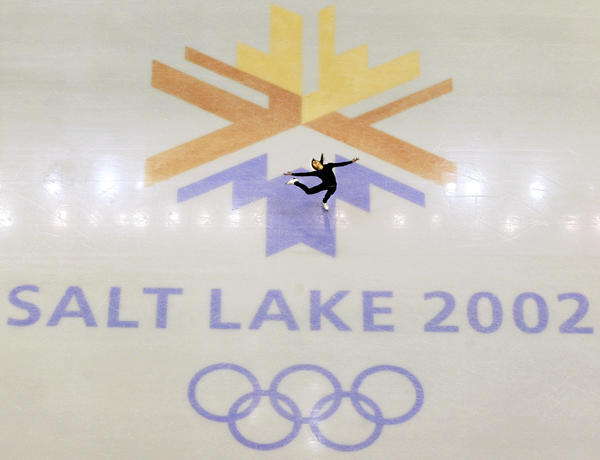 This Feb. 8, 2002 file photo shows U.S. champion Michelle Kwan practicing for the women's short program for the Winter Olympic Games at the Salt Lake Ice Center in Salt Lake City.