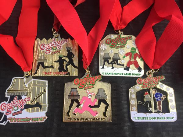The annual 5k and 10k Christmas Story Run has generated more than $400,000 more upgrades and improvements to homes near the Christmas Story House on W. 11th Street. Each year, runners get a commemorative medal for the run.