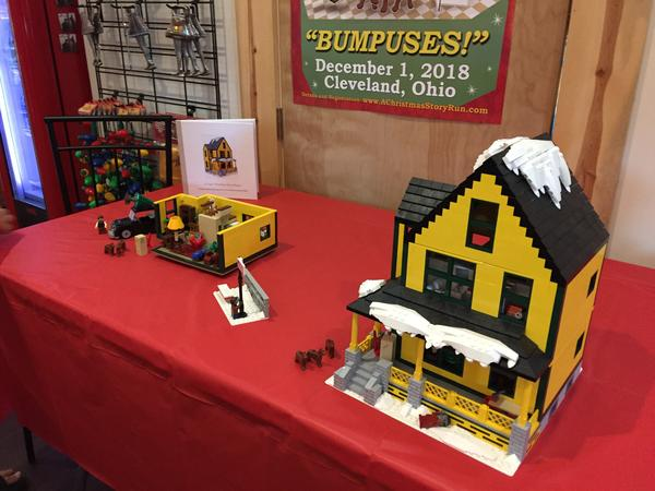 Christmas Story fan James Middaugh submitted his Christmas Story house to the Lego company for consideration last year. He's re-submitting a smaller-scale version this year.