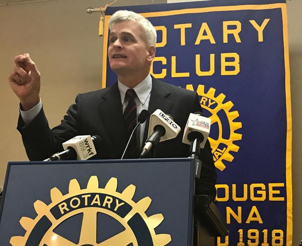 Senator Bill Cassidy at a meeting of the Baton Rouge Rotary Club in August 2017.