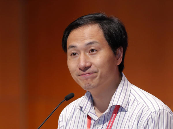 Researcher He Jiankui spoke Wednesday during the 2nd International Summit on Human Genome Editing in Hong Kong.