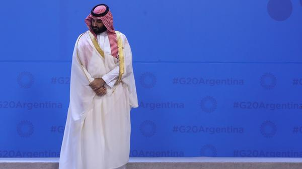 Crown Prince Mohammed bin Salman during the G-20 summit on Nov. 30, 2018 in Buenos Aires. The summit marks a test of the extent to which world leaders will seek to distance themselves from him.