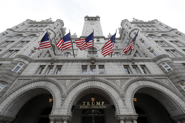 The Trump International Hotel in Washington, D.C., is at the center of a lawsuit brought by the governments of Maryland and the District of Columbia against President Trump, arguing that his stake in the hotel violates the Constitution's emoluments clauses.