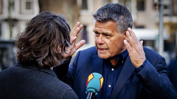 Emile Ratelband, 69, answers journalists' questions on Monday in Amsterdam. An Amsterdam court rejected his request to legally change his age to 49.