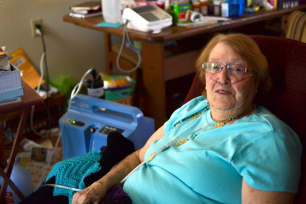 Charlotte Potts, who has a history of heart problems, lives within sight of Livingston Regional Hospital. After a recent stint there, she was discharged into the care of a home health agency, and now gets treatment in her apartment for some ailments.